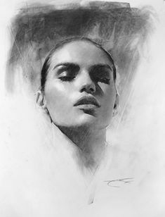 Supreme Portrait Drawing with Charcoal Ideas. Prodigious Portrait Drawing with Charcoal Ideas. L'art Du Portrait, Portrait Sketches, Pencil Portrait, Life Drawing, Drawing Sketches, Painting & Drawing, Drawing Faces, Manga Drawing, Drawing Tips