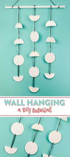Not only is thisDIY Wooden Circle Wall Hanging simple to make, but you can personalize it with your favorite colors to match your current style.