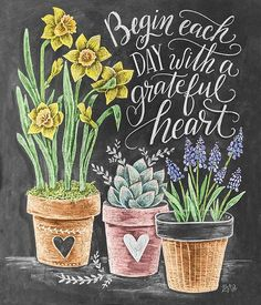 I like the idea of the potted plants, and we could add the march special above Summer Chalkboard Art, Craft Projects