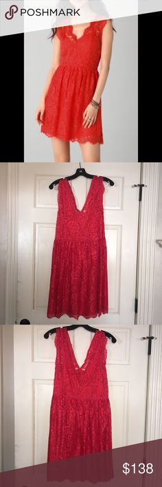 NWOT Madison Marcus Red Lace Dress New Without Tags Madison Marcus Lace Dress. Perfect Valentine's Day dress ❤ or cocktail dress. Never worn! In perfect condition! Madison Marcus Dresses
