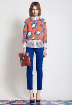 Lace blouse layering. http://msgm.it/collections#woman-pre-fall-2012