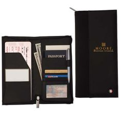 Sheaffer (TM) Classic Travel Wallet 15668 - Travel in style with this multi-pocket travel wallet. Interior pockets are shaped perfectly for organizing all your travel documents including tickets, passport and business cards. Zippered closure on main compartment. Interior organizing pockets for tickets & passport. Interior full length slip pocket. Multiple business card pockets & pen loop. Custom Sheaffer (TM) liner and exterior rivet. Full grain leather, 1680 denier ballistic nylon…