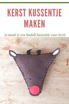 Een leuke knutsel om samen met je kind te maken voor kerst: een kussentje van Rudolf het Rendier. Met stap voor stap uitleg. Easy Peasy, Kids Crafts, Dutch, Om, Diys, Seeds, Dutch Language, Bricolage, Do It Yourself