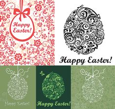 Easter eggs with floral ornaments vector. We have over 10,000+ pictures. All images on the site vectorpicfree.com free for download and ready for print.