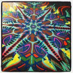 I've got some wacky colors today... Loving it         Ⓒ 1994-2013 Joe Mangrum  http://www.joemangrum.com  Paintings – Sand Paintings – Prints – Installations – Events – Commissions
