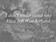 I don't understand why Alice left Wonderland.