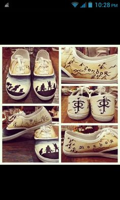 shoes vans converse lotr the lord of the rings the lord of the rings print cool yellow