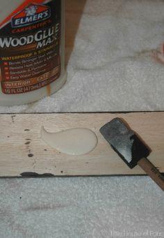 Glueing balsa wood to cabinet