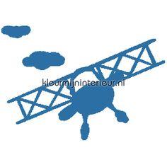 Deze vliegtuig muursticker past heel goed bij de silhouet vliegtuig kinderlamp van Little Dutch. Te verkrijgen in diverse kleuren en maten