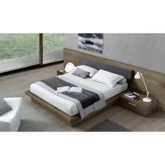 The Jesse Ala Bed In Wood From Leading Contemporary Furniture Brand Jesse  Furniture Is Available In Thermal Oak (main Photo) Or Canaletto Walnut, ...