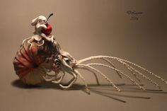 author, ooak, fairy, tale, sculpture cloth rabbit fantasy art original handmade