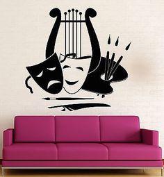 Wall Sticker Vinyl Decal Art Theatre Artist Music Muse Inspiration (ig1836)