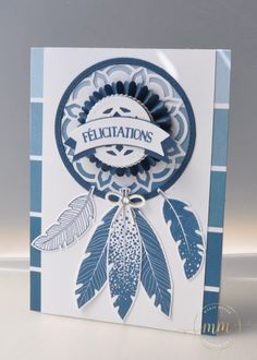 Carte attrape rêves Thinlits Médaillons de l'Orient par Marie Meyer Stampin up - http://ateliers-scrapbooking.fr/ - Dream Catcher Card - Eastern Medallions Thinlits   - Traumfänger karte Thinlits Orient-Medaillons