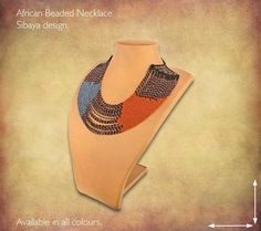 Traditional African Beaded Necklaces handmade by highly skilled Zulu Beadworkers from South Africa. African Jewelry including beaded bangles, bracelets and earrings. African Beads Necklace, African Jewelry, Handmade Necklaces, Beaded Jewelry, African Crafts, Zulu, South Africa, Pouch, Bead Jewelry