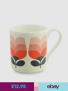 2 x Orla Kiely Scribble Stem Mugs 400ml
