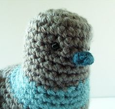 Arlington The #Crochet Pigeon is sold by BluephoneStudios on #Etsy