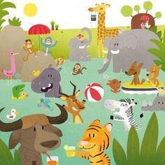 Audrey brien zoo in 2019 иллюстрации, графика, дизайн. Animal Paintings, Animal Drawings, Jungle Illustration, Cute Friends, Watercolor Animals, Nyc, Manga Drawing, Drawing For Kids, Preschool Crafts