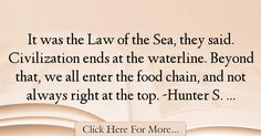 Hunter S. Thompson Quotes About Food - 23188