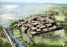 Minoan Palace of Knossos Reconstruction | ... Palace of Minos - Knossos Crete Digital reconstruction by jubran