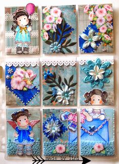 Arts by Tini:  Pocket Letters - Magnolia Tilda Pocket Letter
