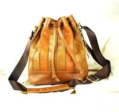 Brown Bucket Bag Tote Leather Handbag, cozy and nice.  Recommend.