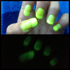 Glow in the dark nail polish Dark Nail Polish, Dark Nails, Glow, Glitter