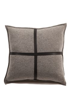 MASTER Sardinia Cashmere Pillow - Several colors that could work. Love the leather detailing on this pillow.