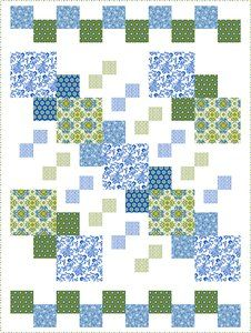 Urban Chic quilt - free pattern To find the pattern you have to use the search box.