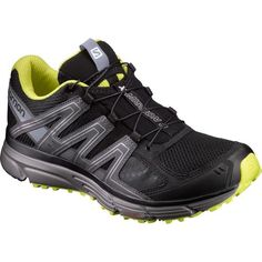 Salomon Men's X-Mission 3 Trail Running Shoes (Black/Yellow, Size 7.5) - Men's Outdoor Shoes at Academy Sports