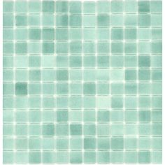 Shop Elida Ceramica 12-1/2-in x 12-1/2-in Recycled Glass Mosaic Artic Green Glass Wall Tile at Lowes.com