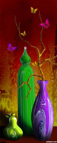 Vases and Butterflies ~~~