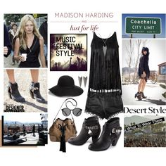How To Wear Music Festival Style Lust For Life X Madison Harding Boots Outfit Idea 2017 - Fashion Trends Ready To Wear For Plus Size, Curvy Women Over 20, 30, 40, 50