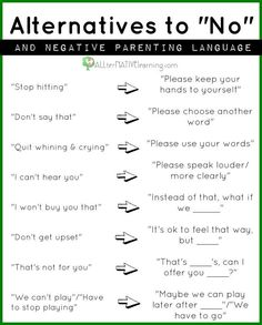 "This depends....sometimes there are alternatives to saying ""no"", but sometimes kids need to hear the word ""no"" and learn what it means."