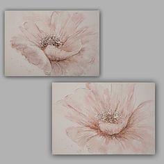 pintado a mano abstracto / floral / botánico moderno / clásico un panel de lona pintura al óleo