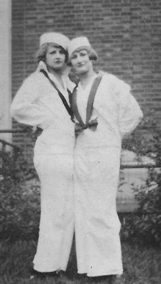 Mom (right) not in the Navy in WWII