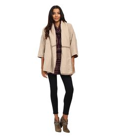 Free People Seamed Slouchy Coat