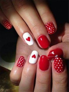50 Trendy Acrylic Nail Designs for Valentine's Day 50 Trendy Acrylic Nail. - 50 Trendy Acrylic Nail Designs for Valentine's Day 50 Trendy Acrylic Nail Designs for Valen - Red Nail Art, Pretty Nail Art, Red Nails, Glam Nails, Valentine's Day Nail Designs, Acrylic Nail Designs, Acrylic Nails, Nails Design, Coffin Nails