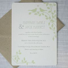 Possible invitations - eco-friendly