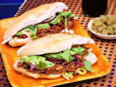 Tortas de Chile Colorado de Res (Beef Chile Colorado Sandwiches)