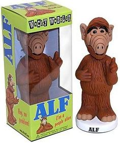 Up for purchase is a ALF Wacky Wobbler Bobblehead by Funko. This ALF bobblehead comes new in box and is an officially licensed product. ALF real name is Gordon Shumway and he came from the Planet of M Et The Extra Terrestrial, Alien Life Forms, Wacky Wobbler, Classic Comedies, Good Ole, Bobble Head, Childhood Memories, Action Figures, Retro Vintage