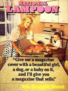 National Lampoon Magazine Covers. January 1977.