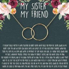 Daughter Necklace: Gift for Daughter, Daughter Jewelry, Mother Daughter, 2 Interlocking Circles – Dear Ava Mother Daughter Necklace, Sister Necklace, Cute Necklace, Bid Day, Daughter Quotes, To My Daughter, Soul Sister Quotes, Daughters, Friend Quotes