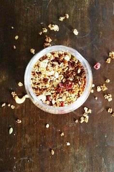 This orange cranberry granola is full of warm, comforting flavors-- and it's going to make your kitchen smell amazing.
