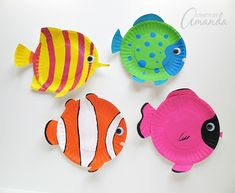 paper plate fish craft - ocean kid craft - crafts for kids- kid crafts - acraftylife.com #preschool
