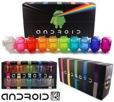 Bonecos Robô Google Android: Set Arco-Íris Multicolorido