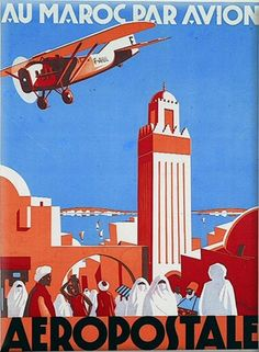 Vintage Biplanes Fly to Morocco! - Shop Vintage Morocco Airplane Travel Poster Art Postcard created by caferetro. Personalize it with photos Aeropostale, Air France, Air Festival, Airplane Travel, Poster S, Vintage Travel Posters, Poster Vintage, Vintage Airline, Illustrations