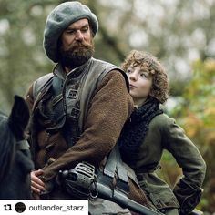 #Repost @outlander_starz with @repostapp ・・・ These two are back at it again. See Murtagh and Fergus in action tonight on #Outlander.