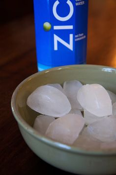 Coconut Water Ice Cubes instead of frozen ice cubes for extra potassium in smoothie