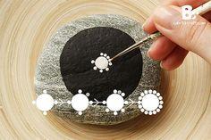 DIY Mandala Stones Tutorial by colorful-crafts.com More