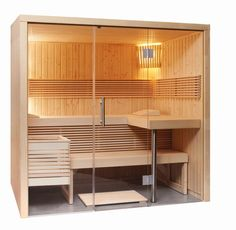 Elements sauna with glass front, small Diy Sauna, Sauna Steam Room, Sauna Room, Sauna Lights, Modern Saunas, Sauna House, Sauna Heater, Portable Sauna, Sauna Design
